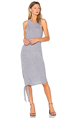 Asymmetrical Tie Dress in Heather