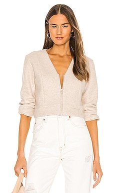 Zip Cardigan Lanston $158 NEW