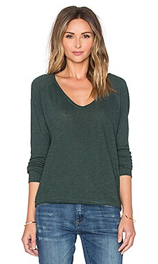 Lanston Scoop Neck Pullover in Forest