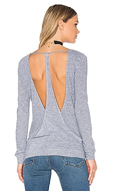 Back Drape Pullover in Heather