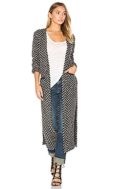 Contrast Pocket Maxi Cardigan in Grey