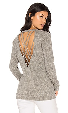Strappy Back Pullover in Heather
