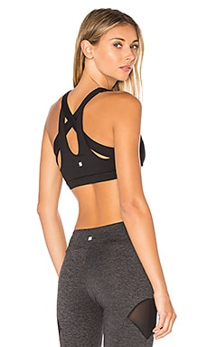 SPORT Cross Back Bra in Black