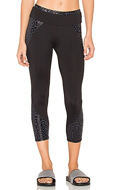 SPORT Kallie Print Block Legging in Black