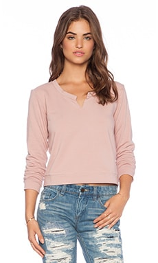 Lanston Split Sweatshirt in Ballet