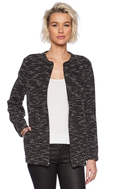 Lanston Tweed Tunic Bomber in Black & White