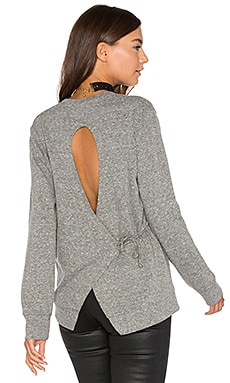 Tie Back Sweatshirt en Heather