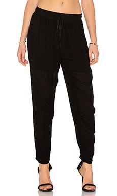 Tied Waist Pant in Black