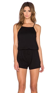 Lanston Cami Romper in Black