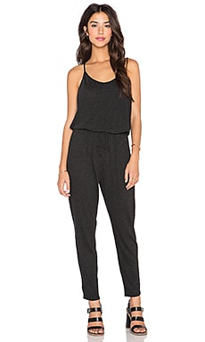 Lanston Racerback Jumpsuit in Black
