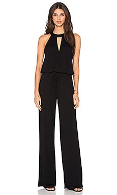 Lanston Surplice Jumpsuit in Black