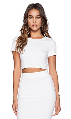 Cropped Racerback Tee in White