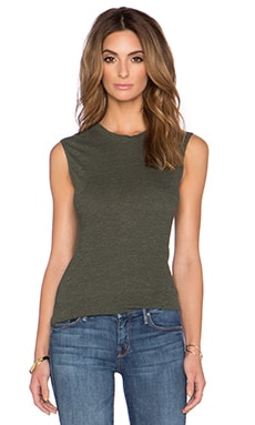 Lanston Tri Blend Fitted Muscle Tee in Army