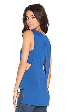 Lanston Side Slit Layered Tunic in Monaco