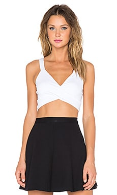 Lanston x REVOLVE Crossed Bra Top in White