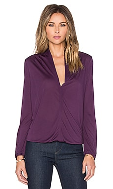 Deep V Long Sleeve Top