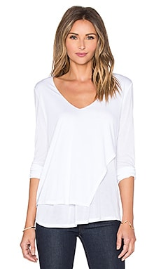 Layered Asymmetrical V Neck Top
