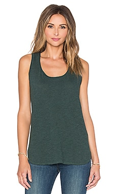Lanston Racerback Tunic Tank in Forest