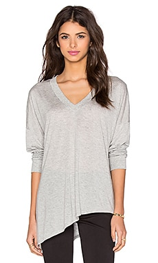 Lanston Asymmetrical Long Sleeve Tunic in Heather