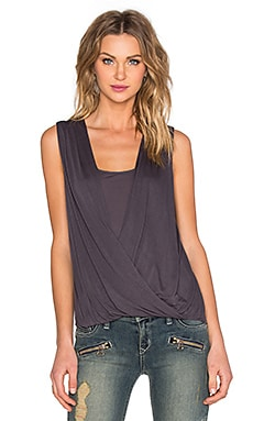 Lanston Layered Sleeveless Tank in Granite