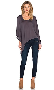 Lanston Asymmetrical Drape Tunic in Granite