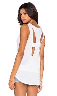 Cutout Back Tank in White