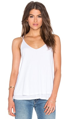 Crossback Tank in White
