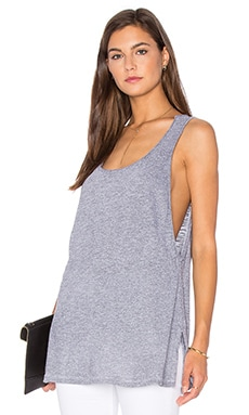 Side Slit Tunic Tank en Heather