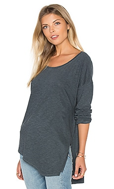 Lanston Asymmetrical Boyfriend Top in Pacific