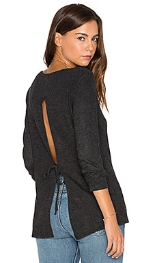 Tie Back Tunic in Black