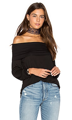 Off Shoulder Top in Black