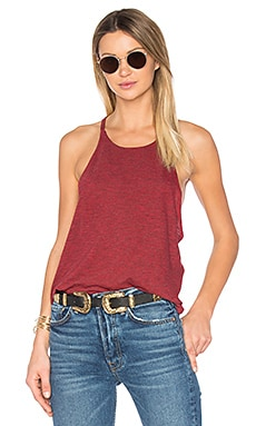 Side Drop Tunic Tank in Red