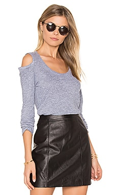 Cold Shoulder Top in Heather