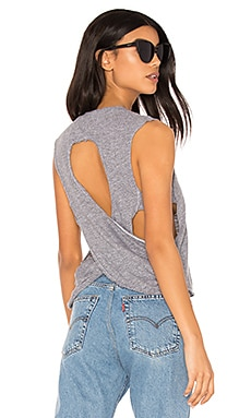 Drape Back Tank in Heather