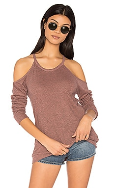 Exposed Shoulder Tee in Bellini