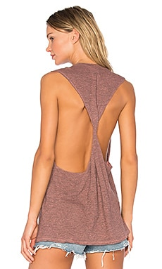 Twist Back Muscle Tank in Bellini