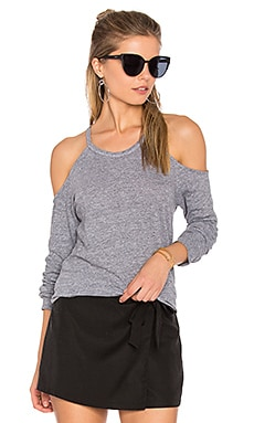 Exposed Shoulder Tee in Heather