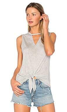 Cutout Tie Tank in Heather