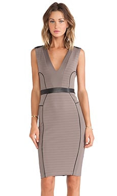 LaPina Kimberly V Neck Dress in Spice