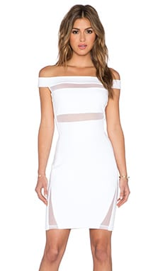 LaPina by David Helwani Natasha Dress in White