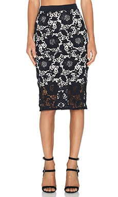 LaPina by David Helwani Celine Skirt in Black