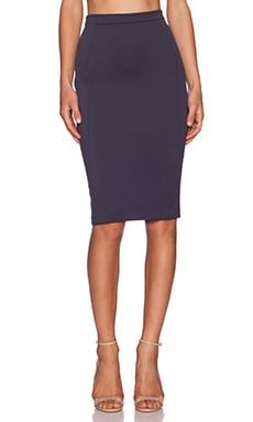 LaPina by David Helwani Stella Skirt in Indigo