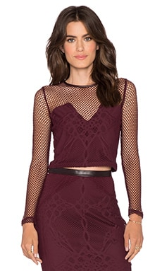 LaPina by David Helwani Sophie Top in Burgundy