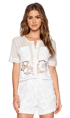 LaPina by David Helwani Alison Top in White