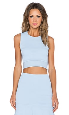 LaPina by David Helwani Margaux Top in Whisper Blue