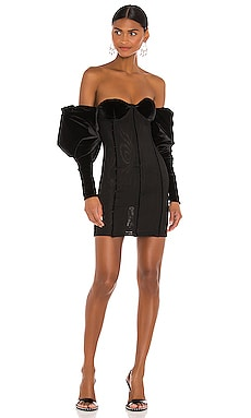 Off Shoulder Puff Sleeve Dress LaQuan Smith $556