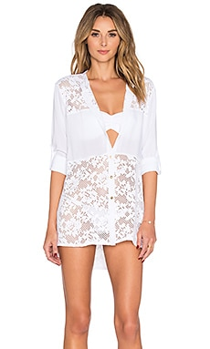 Larissa Minato Lesie Cover Up in White