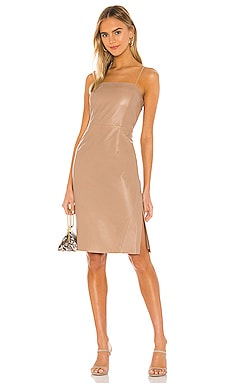 Victoria Leather Mini Dress LAMARQUE $248