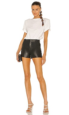 Coupon Lamarque Garnet Leather Shorts