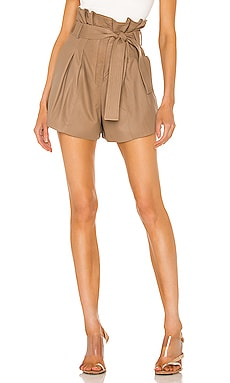 Jaira Leather Short LAMARQUE $277